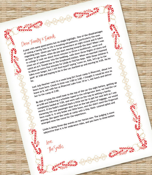 Christmas Letter Template for MS Word \u2013 Download  Print