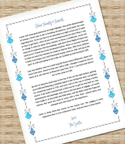 Microsoft Word Christmas Letter Template with Ornaments \u2013 Download - christmas letter templates