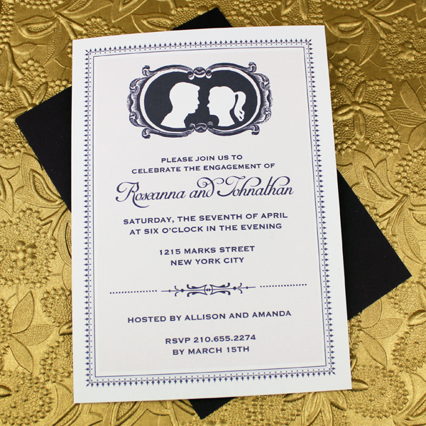 Cameo Engagement Party Invitation Template \u2013 Download  Print
