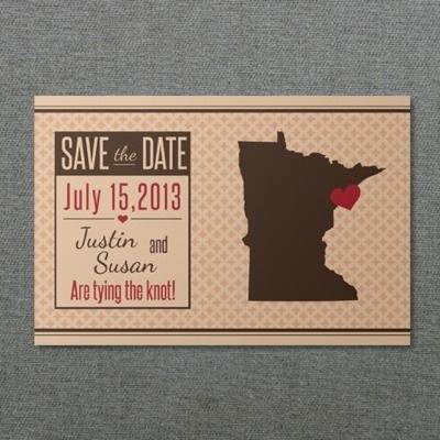 Minnesota Save-the-Date Postcard Template \u2013 Download  Print - save date postcard