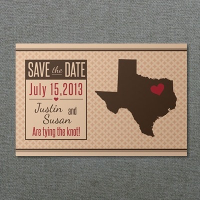 Texas Save-the-Date Postcard Template \u2013 Download  Print
