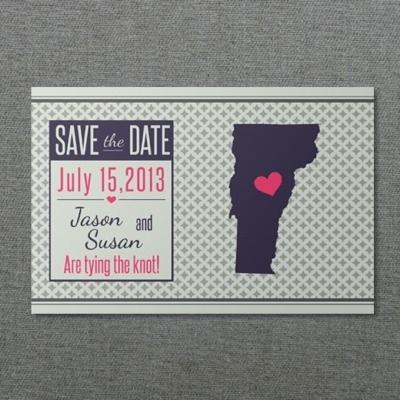 Vermont Printable Save-the-Date Postcard \u2013 Download  Print - save date postcard
