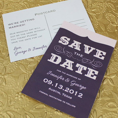 Save-the-Date Template with Retro Type \u2013 Download  Print