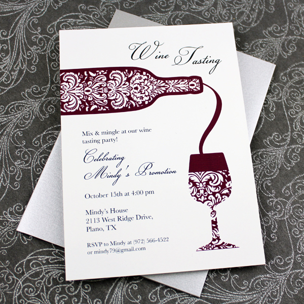 Wine Tasting Invitation Template \u2013 Download  Print - dinner party menu templates free download