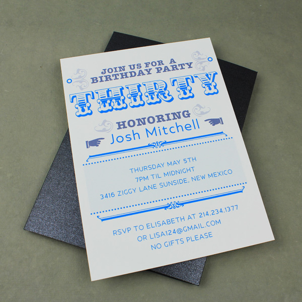 30th Birthday Party Invitation Template \u2013 Download  Print