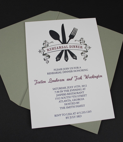Invitation Template u2013 Casual Rehearsal Dinner u2013 Download \ Print - dinner invitation template