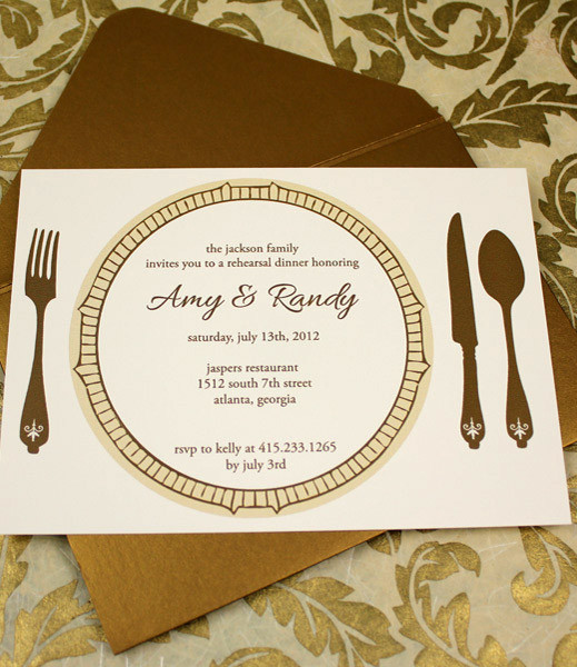 Invitation Template \u2013 Elegant Rehearsal Dinner Invitation \u2013 Download - dinner invite templates