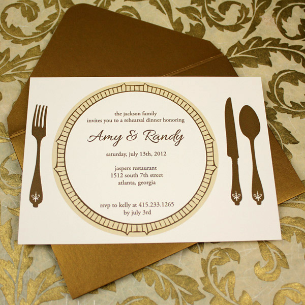 Invitation Template u2013 Elegant Rehearsal Dinner Invitation - dinner invitation template