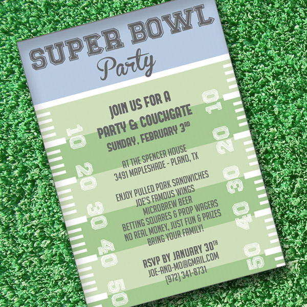 Super Bowl Invitation Template \u2013 Download  Print