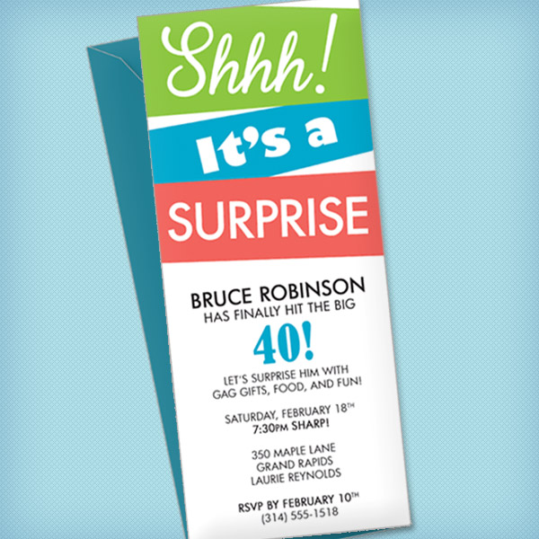 Surprise Party Invitation Template \u2013 Download  Print