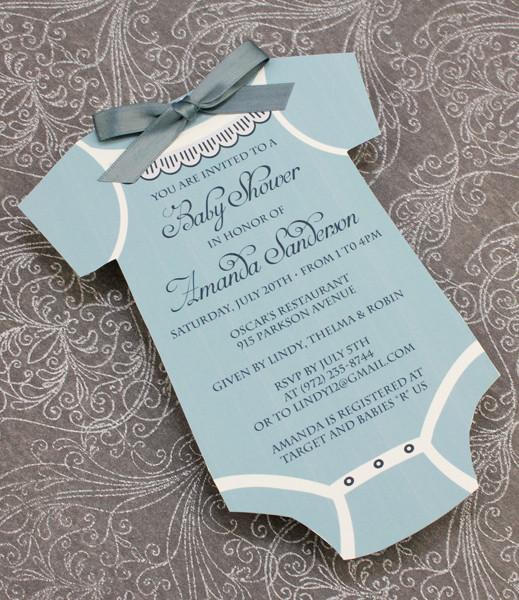 Baby Shower Invitation Template Boys Onsie \u2013 Download  Print - baby shower invitation template download