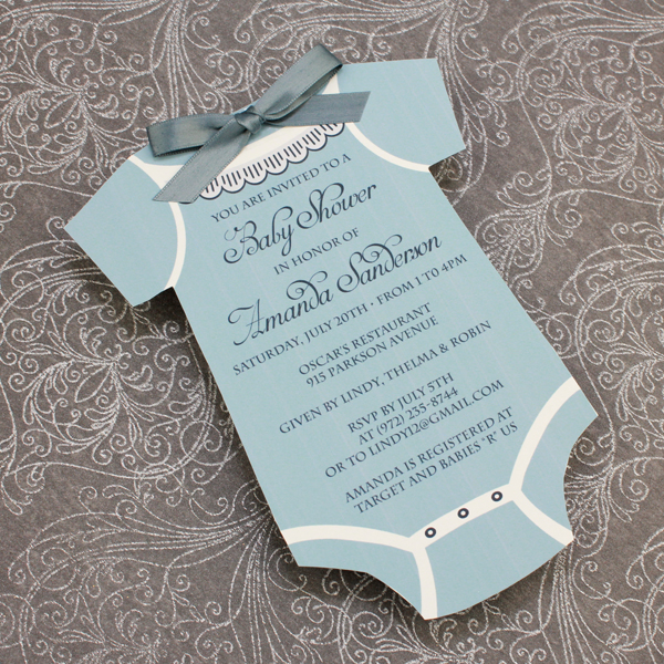 Baby Shower Invitation Template Boys Onsie \u2013 Download  Print - Free Baby Shower Label Templates
