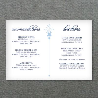 Deco Scroll Wedding Reception Card Template \u2013 Download  Print