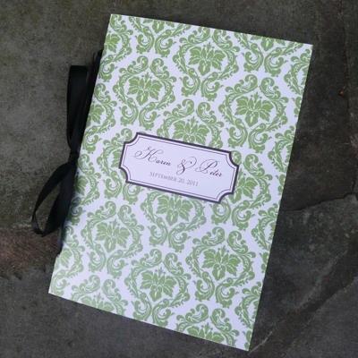 Damask Wedding Program Booklet Template \u2013 Download  Print - booklet template
