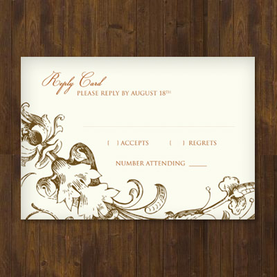 rsvp wedding template - Muckgreenidesign