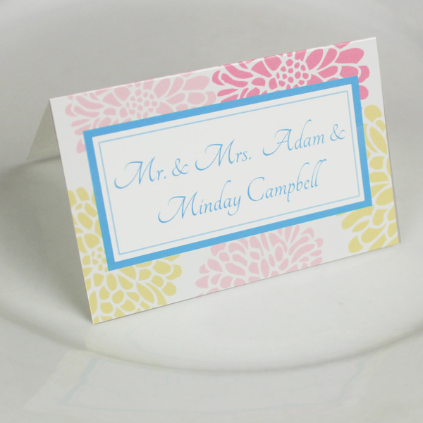 Wedding Place Card Template Chrysanthemum Design \u2013 Download  Print - folded place card templates
