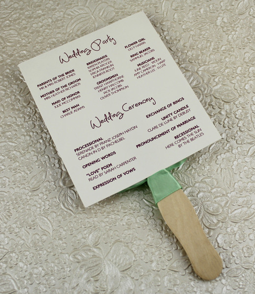 wedding fan program template - Onwebioinnovate