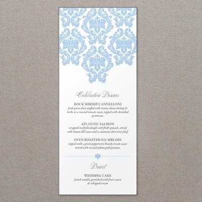 French Damask Wedding Menu Template \u2013 Download  Print - wedding menu template