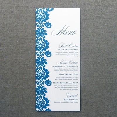 Menu Card Template \u2013 Rococo Design \u2013 Download  Print
