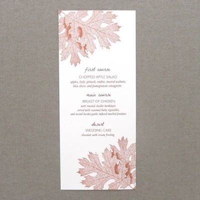 Menu Template \u2013 Fall Leaves \u2013 Download  Print