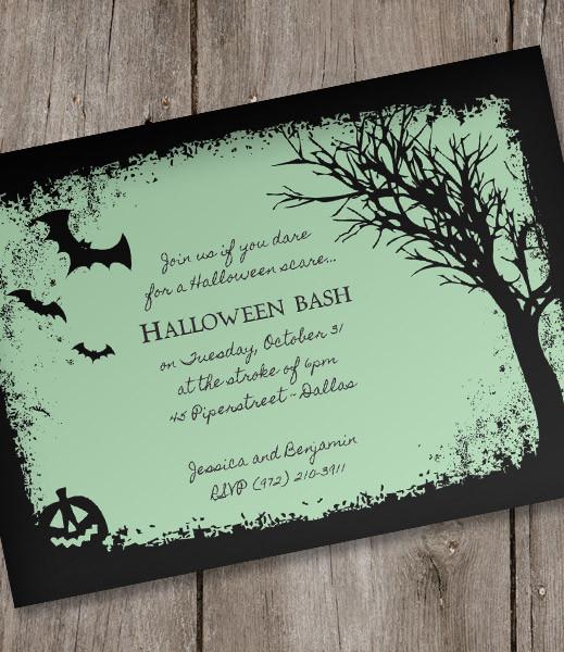 Halloween Invitation Template \u2013 Spooky Woods \u2013 Download  Print - halloween invitation template