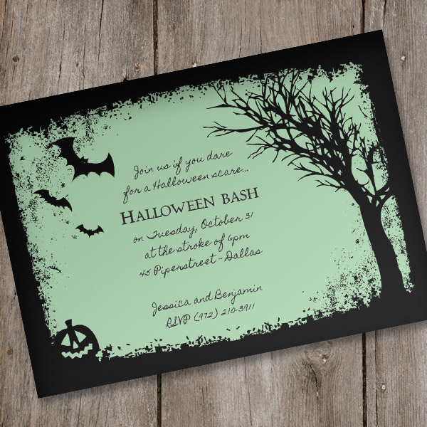 Halloween Invitation Template \u2013 Spooky Woods \u2013 Download  Print - halloween invitation