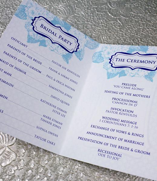 Hydrangea 4-Page Booklet Wedding Program Template \u2013 Download  Print
