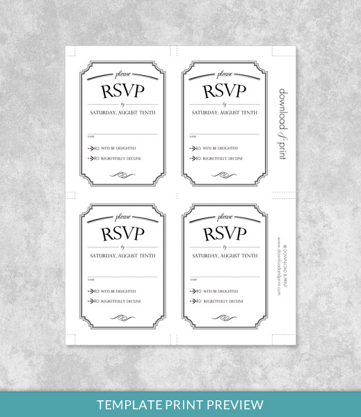 print rsvp cards - Klisethegreaterchurch - free printable wedding rsvp cards