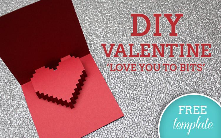 3D Heart Valentine\u0027s Card - Free Template