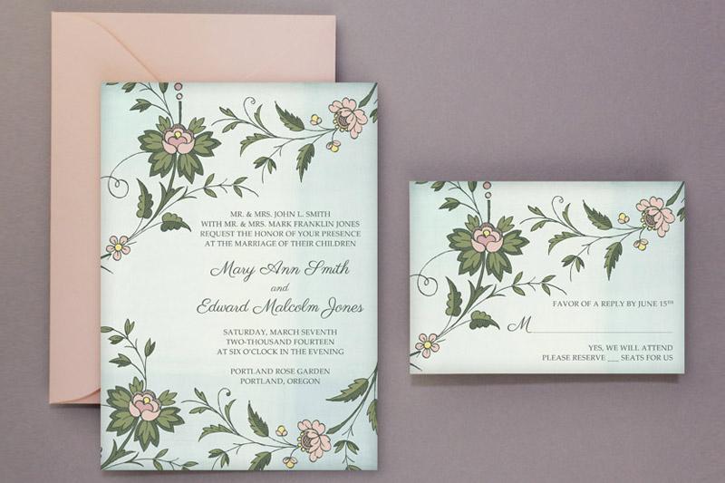 DIY Watercolor Wedding Invitation Template  Tutorial