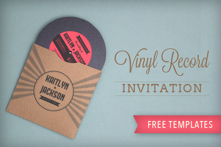 Vinyl Record Wedding Invitation Template - Download  Print