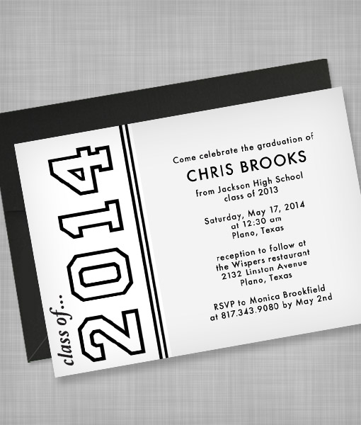 High School Graduation Invitation Template \u2013 Download  Print