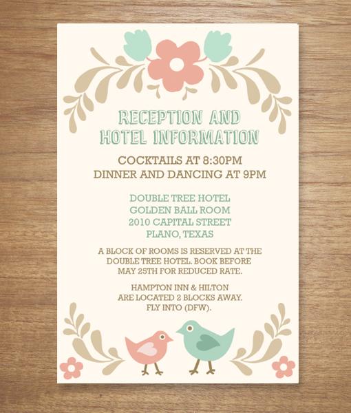 Folksy Love Birds Enclosure Card \u2013 Download  Print