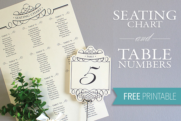 Printable Seating Chart  Table Number Template - free printable seating chart