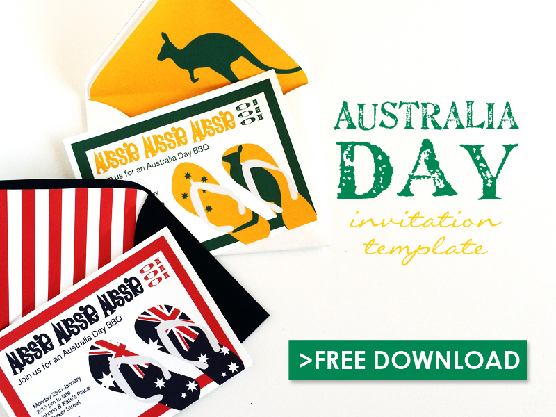 Free Australia Day Party Invitation Template - free party invitation templates