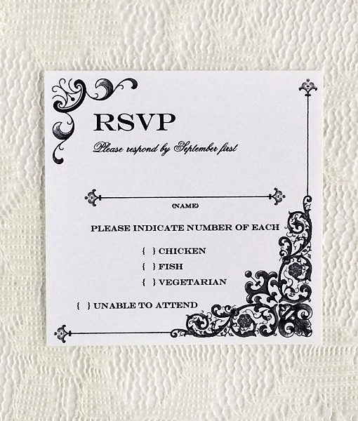 free printable wedding rsvp card templates - Leonescapers