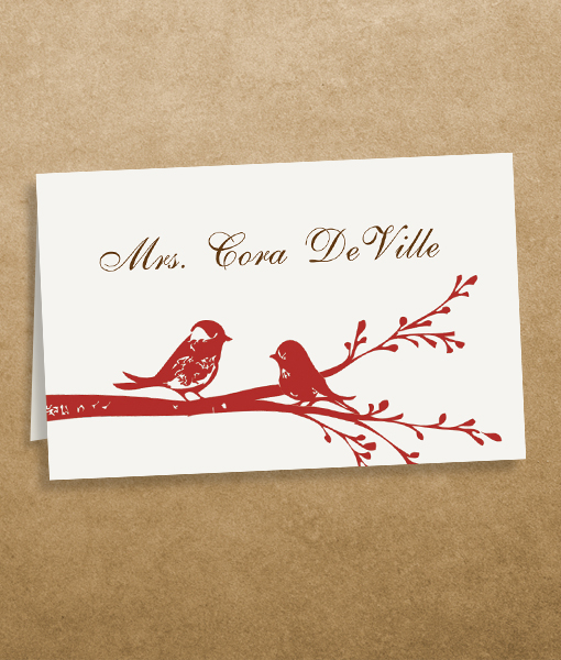 Love Birds Place Cards Template \u2013 Download  Print - place card template