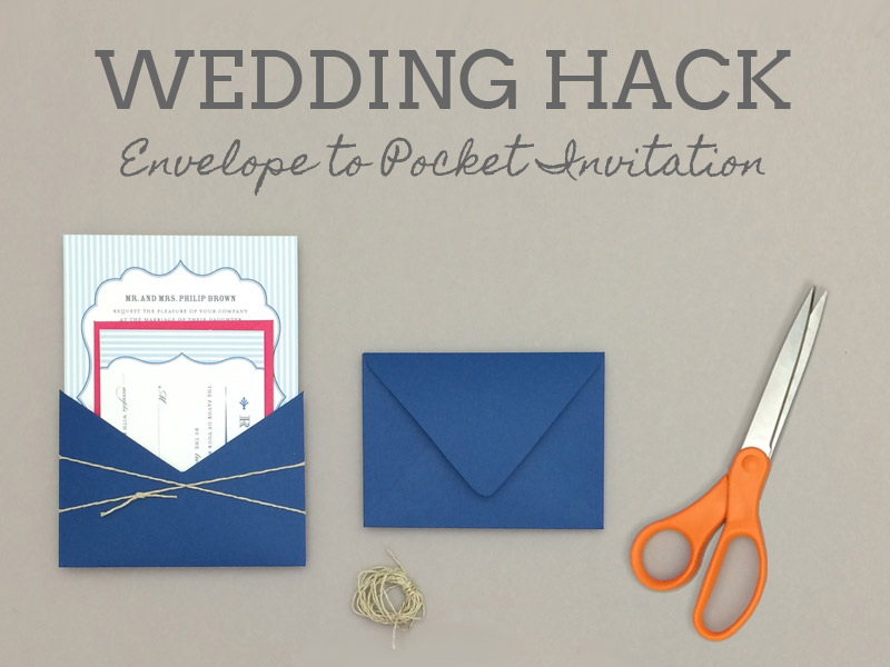 Free Pin Stripe Wedding Invitation Template and DIY Pocket