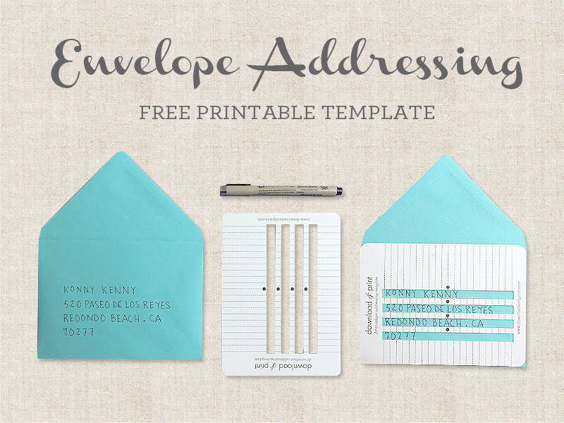 Free Printable Envelope Addressing Template