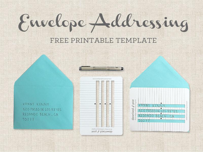 Free Printable Envelope Addressing Template - sample 5x7 envelope template