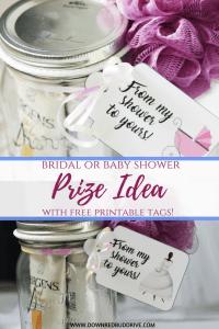DIY Baby or Bridal Shower Prize Idea | Free Printables!
