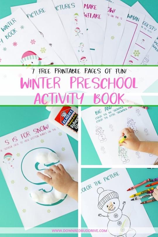 Preschool Winter Activity Book Free Printable Activity Book