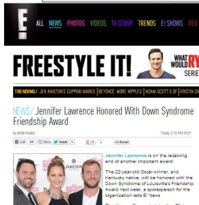 Eonline Jennifer Lawrence honored with Down syndrome award