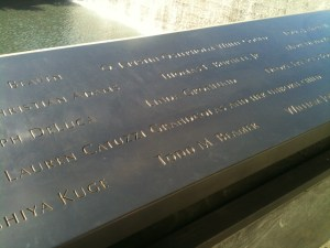 Names from Flight 93, 9/11 Memorial