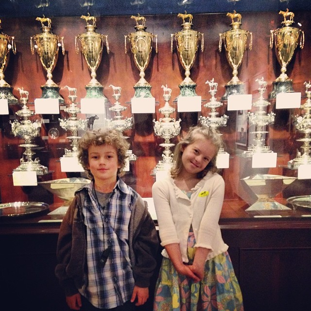 Calumet Farm's Kentucky Derby, Preakness, & Triple Crown trophies