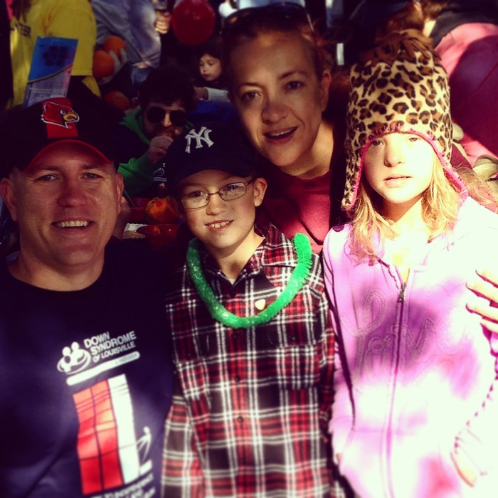 Your author and family at the 2014 DSL Walk