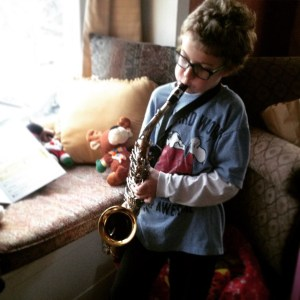 James started saxophone lessons this year