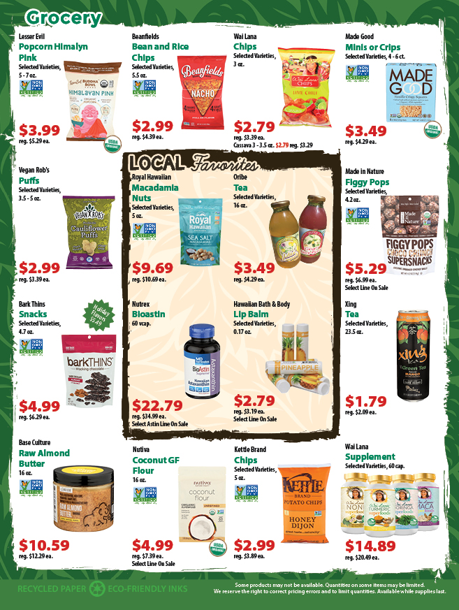 Super Saver Flyer Deals Down to Earth Organic and Natural