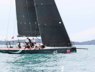 Jason Ward and Shevaun Bruland's Concubine is third overall after Day 2. Photo: Nic Douglass, Adventures of a Sailor Girl