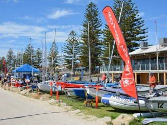 The Largs Bay Sailing Club hosts the Breezair by Seeley International Cadet Nationals this week.
